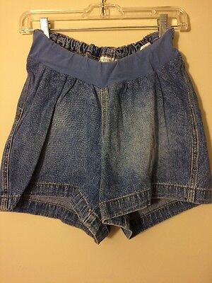 Motherhood Maternity Blue Jean Shorts Size Medium Euc!