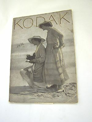 Vintage 1916 KODAK PHOTOGRAPHIC CATALOG, All Cameras & Accessories of that Year
