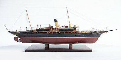 Highly Detailed Vintage  Model Of A Victorian Steam Yacht