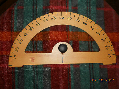 Vintage Large Wood Post 1794 Blackboard Protractor for Teaching or Crafts