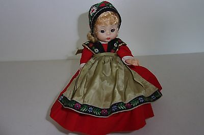 "Vintage Madame Alexander 7"" Doll Swedish Doll Bent Knee Walker Lovely"