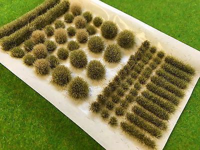 Yellow Brown BIG True Tufts mixed - Model Scenery Static Grass Natural Railway