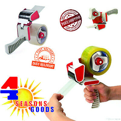 Heavy Duty Parcel Tape Packing Dispenser Gun With 2x 50mm Tape Rolls Easy to Use