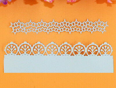 2Pcs DIY Metal Flower Lace Cutting Dies Scrapbooking Paper Card Stencils Crafts