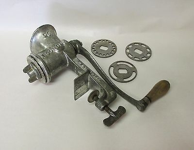 Vintage Economy  No. 20 Meat and Sausage Grinder with Four Blades, USA