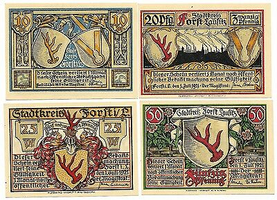 **1921 FORST Germany - STAG ANTLERS & CITY ~ Complete Set German Notgeld UNC