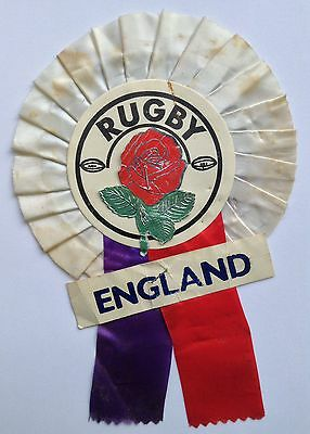 England Vintage 1970's Rugby Union Rosette