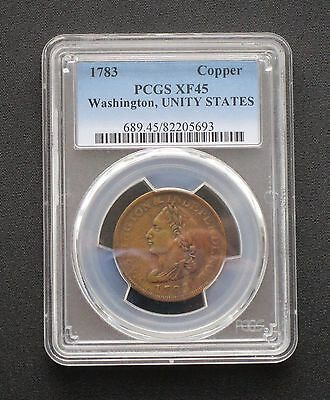 1783 Unity States Colonial Washington Cent - PCGS XF45