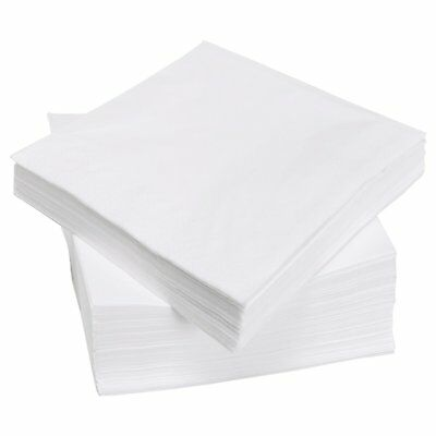 4000 White 2 Ply Paper Serviette Napkins 33cm Restaurant Catering Party Takeaway