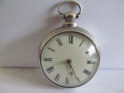1833 verge fusee pair cased pocket watch solid silver v. good condition working