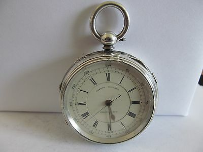 1894 fusee chronograph pocket watch solid silver very good condition and working