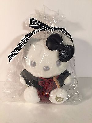 """NEW Hello Kitty Plush 7"""" Black & White For Sale only in Japan Junction Produce"""