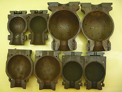 Cast Iron Obsolete Light Bulb Mold Glass Metal Casting Mold Antique USA Foundry