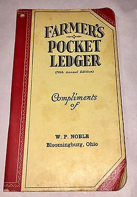 1944-45 Pocket Ledger JOHN DEERE Advertisement Advertising Book Bloomingburg OH.