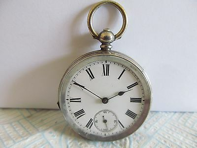 vintage pocket watch solid silver good condition not working