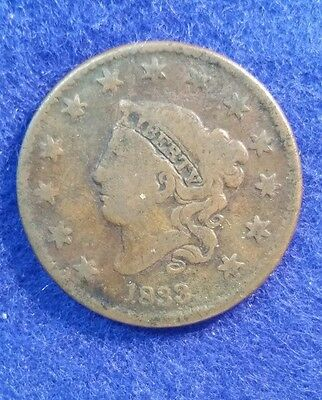 1833 Large Cent - Very Good Details