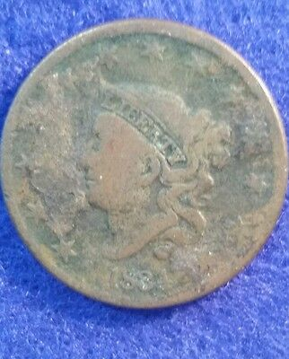 1834 Large Cent - Very Good Details