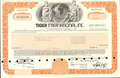 Tiger International > Flying Tiger Line Stephen Wolf now FedEx stock certificate