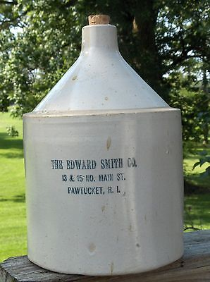 EDWARD SMITH Saloon WHISKEY JUG - 13/15 Main ST PAWTUCKET, R.I. - Super EXAMPLE