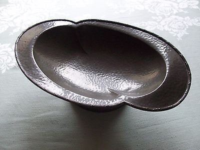 Vintage Art Nouveau Granby Pewter Hand Hammered Stylised Dish