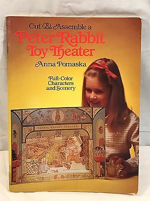 Peter Rabbit Cut & Assemble Toy Theater Anna Pomaska Full Color Play Book NEW