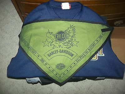 Harley Davidson Salute The Military 2010 Motorcycle Face Mask Bandana Euc