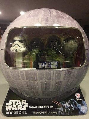 Star Wars Rogue One PEZ Candy Dispensers Set in Collectible Death Star Gift Tin