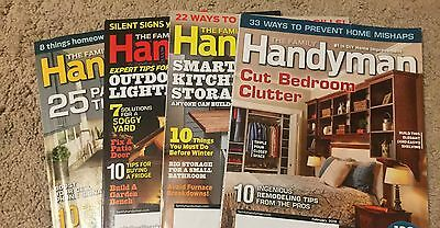 The Family Handyman Magazine, Lot of 4 Back Issues 2016