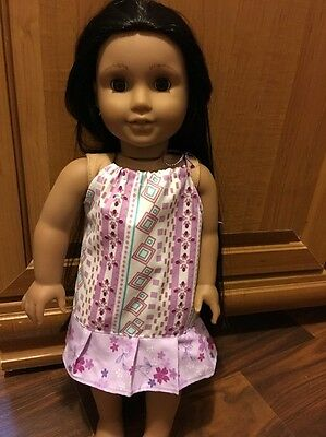 "Fits American 18"" girl Doll CLothes Pillowcase Dress Night Gown"