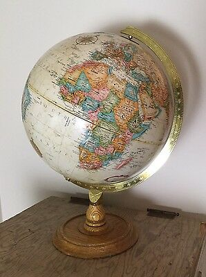 Vintage World Classic Globe 9 inch Diameter Globe Wood Base Rotating
