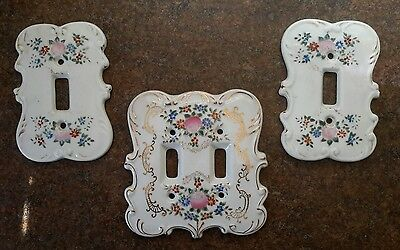 Vintage Porcelain Floral Light Switch Covers Switch Plates Japan