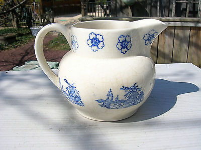 Very Early Flow Blue Water Ball Pitcher - Windmills!!!!