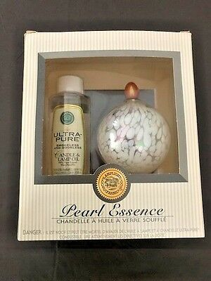 Lamplight Farms Pearl Essence Hand Blown Glass Candle and Lamp Oil