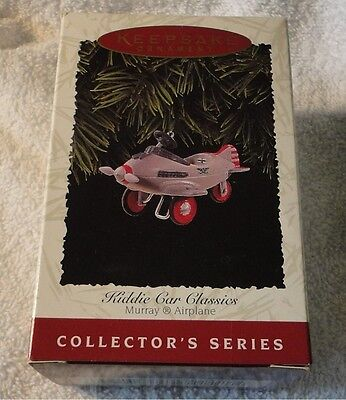 Hallmark Keepsake Ornament ~ Kiddie Car Classics ~ Murray Airplane ~ 1996 *new