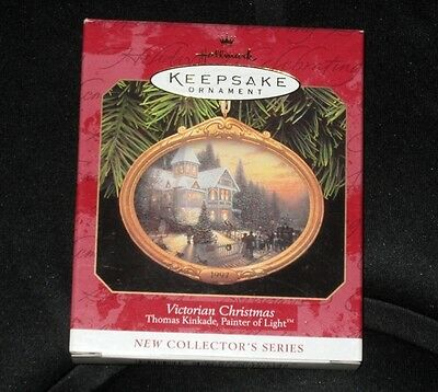 Hallmark Keepsake Ornament ~ Victorian Christmas ~ Thomas Kinkade ~ 1997 *new
