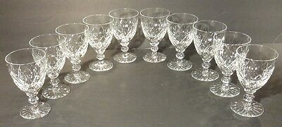"""*VINTAGE* Waterford Colleen Style Crystal 10 White Wine Glasses 4 1/4"""" 4 oz"""