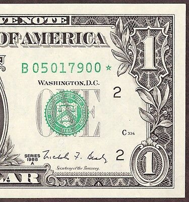 1988A $1 Frn - New York District **star** Note - Unc