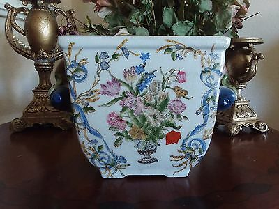 Chinese Vase Porcelain Vintage Planter Pot Fine China
