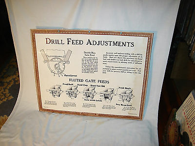 John Deere Drill Feed Adjustment ;  Factory Instructional Aid ;1930's; Vintage