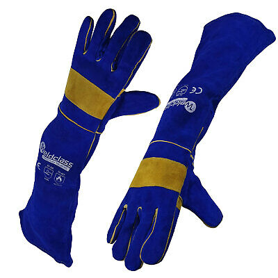 Weldclass PROMAX Blue XC Welders Gloves - Full Arm Protection - 680mm - MIG TIG