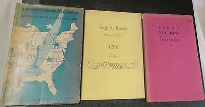 3 c. 1940 Scribner Book Store,NYC Catalogs of Rare Books,1st Editions,Am. Novels