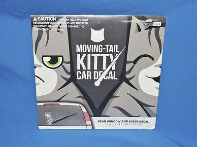 Moving Tail Kitty Cat Car Decal Sticker Rear Window & Wiper 2 Cats Included NEW