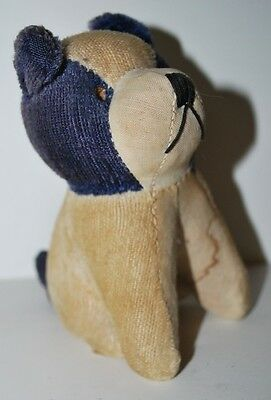 Vintage Straw Stuffed Toy Dog Still has tag Made Japan  4.5""