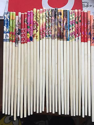 50 Pairs Of New  Decorated Re-Useable Chopsticks Or Hair Sticks----Excellent Buy