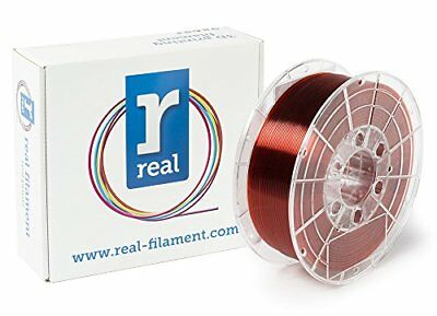 Real Filament 8719128327211 Real PETG, Spool of 1 kg, 1.75 mm, Transparent Red