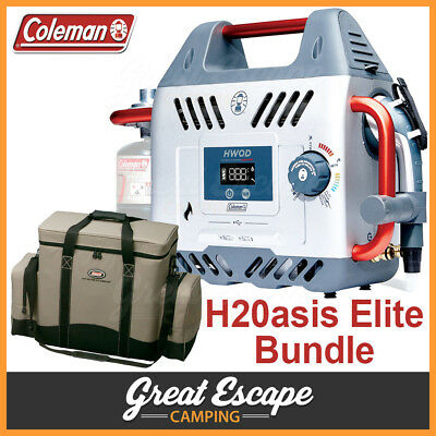 Coleman H2Oasis Elite Hot Water On Demand Camping Shower Hwod + Bag