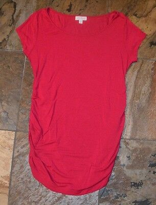 Womens' PEA IN THE POD Maternity Red Short Sleeve Size Medium