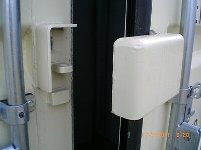 Shipping Container Lock Box, Hides & Secures your Pad Lock from thieves