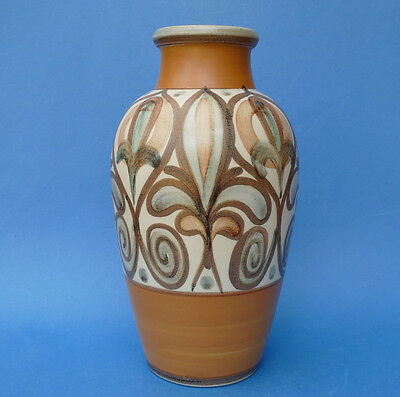 LANGLEY WARE - SORAYA Pattern VASE c1968 des by Glyn Colledge - Art Pottery