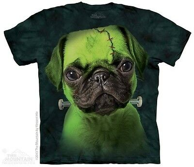 The Mountain Tee Shirt Franken Pug Adult Large New 103752